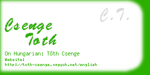 csenge toth business card